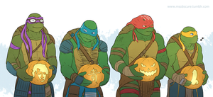 Turts and pumpkins by MsObscure