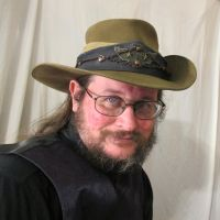 Aussie Hat with Blue Leather and Copper Hatband 1 by Windthin