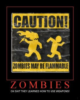 Zombies Demotivational Poster by shadow4742