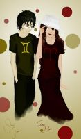 Humanstuck Sollux And Aradia Being Cute by rhealha13