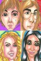 Celebrity Caricatures b 080311 by raccoon-eyes
