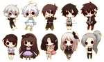 Chibi Commission Batch by giannysuki