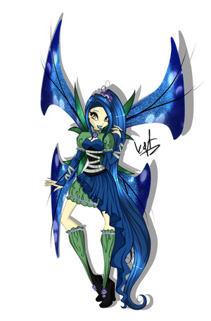 Winx Secret Santa - Spirit Mythix by KillerGirlFuria
