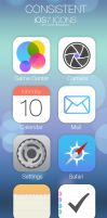 Consistent iOS7 Icons by russanov