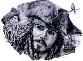 Jack r+Sparrow by RAINBOWyul