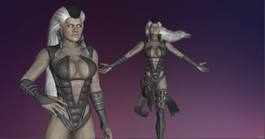 Miranda As Sexy Sindel (MK ) (Def!) by CyberBrian360