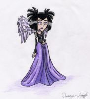 Sam in her dress for Holloween by Dannys-angel