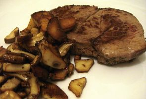 Fillet with porcini mushrooms by kivrin82