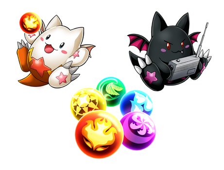 Puzzle and Dragons Charms Set 1 by sonicolas