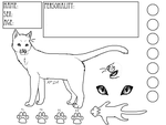 Cat Reference Sheet Template 1 by Alipixels