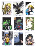 DC Legacy Sketch Cards E by tonyperna