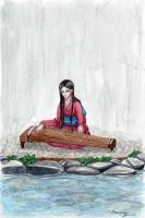The koto player (Sazanami) by shadowzabimaru