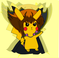 Haouchu The King Of All Pikachu~! by xlightbluesnowflakex