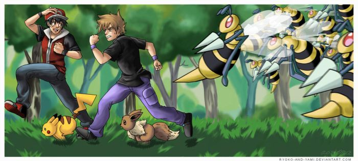 Pokemon: Run for it by Ryoko-and-Yami