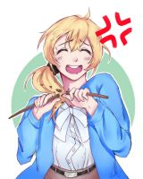 {With a speedpaint woo} Angry Ellen Baker!! by Partaytoes