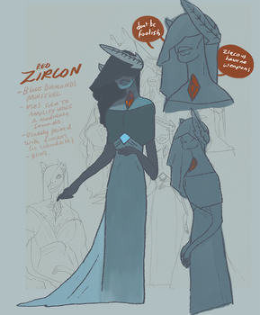 Red Zircon by anonbea