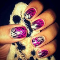 Pink and Silver Ombre Gradient Zebra by FatimattiDesigns