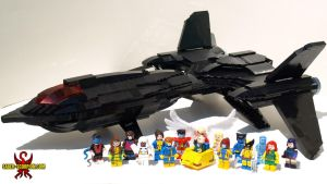 Custom LEGO X-Men and Blackbird by Saber-Scorpion