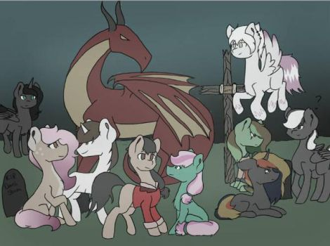 Ponies- just ponies by FreakShow159