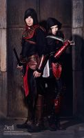 Astrid And Ezio: Back to Back by IreneAstral