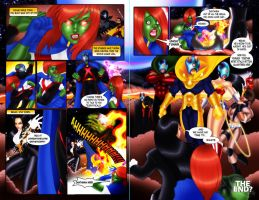 Young Justice vs JLA by Cahnartist