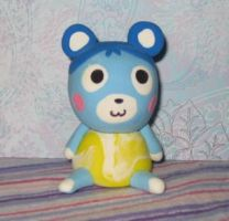Animal Crossing Clay Bluebear by MadameWario