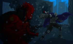 Bloody Shitman vs Lord Overlord by PhiTuS