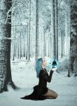 Aurora in the Winter Woods by StabbedxWitxPleasure