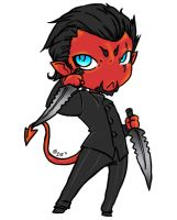 Azazel Chibi Colored by Little-Imp-Rin