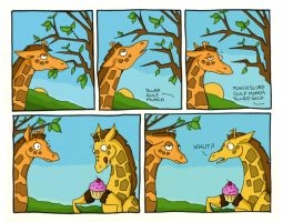 Giraffes say 'WHUT?' by thelovecat