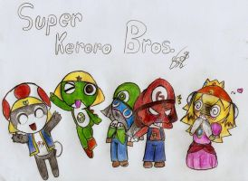 Super Keroro Bros by SuperSunny08