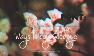 Ways to say Goodbye. Font by FranceEditions