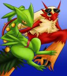 Sceptile and Blaziken Commission by GemoDawnChan