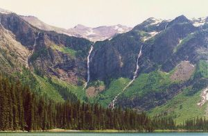 Mt. Jackson 10,052 ft. Glacier National Park by Crystalazure