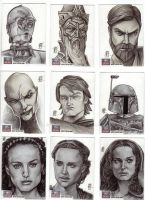 Star Wars Galaxy 7 Artist Sketch Cards - 8 by prmedia
