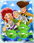 Toy Story 3 by Ladybrenes