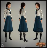 Elizabeth Bioshock Infinite Fan Art by MPages