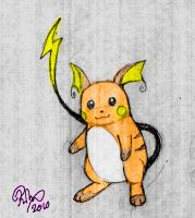 Raichu color by firehorse6
