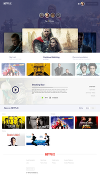 Netflix Redesign by AdnanDesign