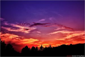 Blood Sunset by Marcello-Paoli