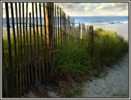Atlantic City Beach by Dracoart