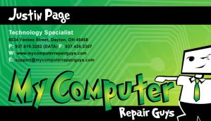 MCRG Business Card FRONT by JustinRampage