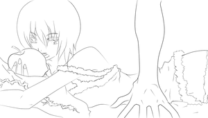 Romeo and Cinderella Lineart Replica kumono by replica-luna
