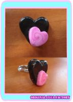 Black and pink ring by cuca-factory