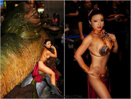 Slave Leia at Comic Con II by yayacosplay