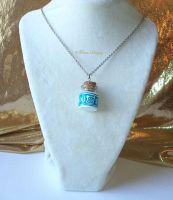 Lon Lon Ranch Glass Milk Bottle Pendant Necklace by TorresDesigns