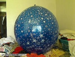 crystal blue 40 inch stars all around print by billoon45