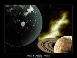 When planets meet by DaemonGFXvoid