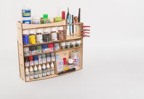 Plywood shelves for modeller/crafter by Michael-XIII