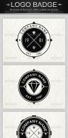6 Vintage Logo Badges by superpencil88